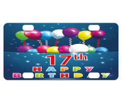 17 Birthday Mini License Plate