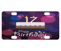 17 Party Cake Mini License Plate