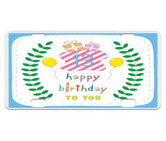 13th Birthday Gifts Mini License Plate