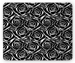 Abstract Art Rose Flowers Mouse Pad