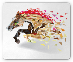 Abstract Art Wild Horse Mouse Pad