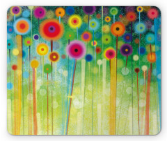 Abstract Art Dandelion Mouse Pad