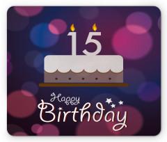 15 Birthday Cake Mouse Pad