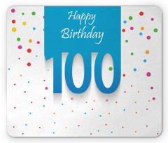 100 Years Birthday Mouse Pad
