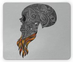 Abstract Art Skull Beard Mouse Pad