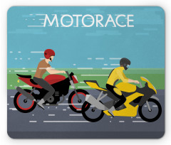 2 Bikers Racing Mouse Pad