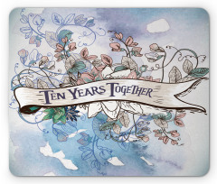 10 Years Floral Art Mouse Pad