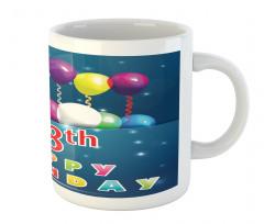 18 Birthday Balloons Mug