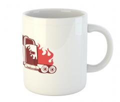 18 Wheeler Silhouette Mug