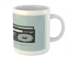 1980s Boombox Image Mug