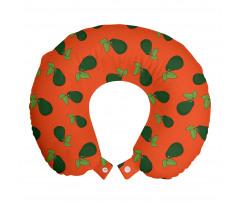 Avokado Boyun Yastığı Yaprağıyla Birlikte Sağlıklı Meyve Tekrarlı