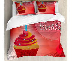 100 Old Cupcake Duvet Cover Set