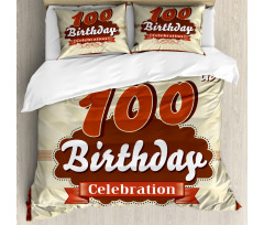 100 Old Party Invite Duvet Cover Set