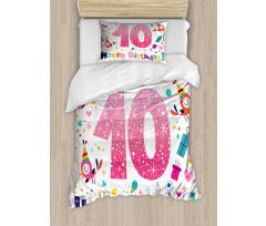 10 Years Kids Birthday Duvet Cover Set