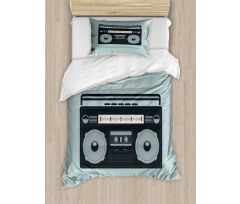 1980s Boombox Image Duvet Cover Set
