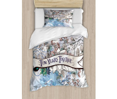 10 Years Floral Art Duvet Cover Set