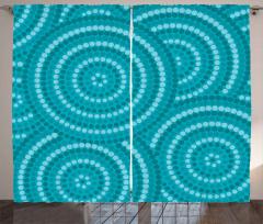 Abstract Australian Dots Curtain
