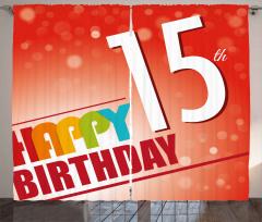 15th Birthday Concept Curtain
