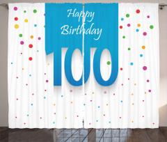 100 Years Birthday Curtain