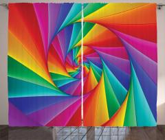 Abstract Art Vivid Swirl Curtain
