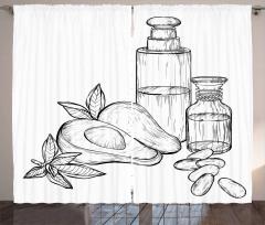 Avokado Perde Tamamen Doğal Meyve ve Ondan Yapılan İçecek