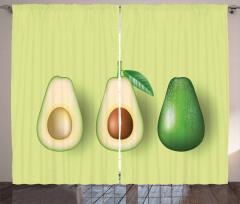 Avokado Perde İçi Sert Çekirdekli Sağlıklı Meyve Model
