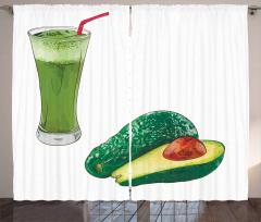 Avokado Perde Sağlıklı Meyve ve Ondan Yapılmış İçecek