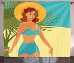 1950s Style Bikini Curtain