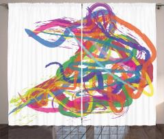 Abstract Art Dancer Curtain