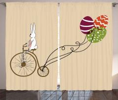 Perde Bisikletli Tavşan