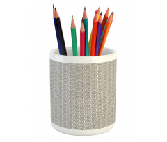 Abstract Art Grid Pencil Pen Holder