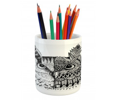 2 Animal Faces Design Pencil Pen Holder