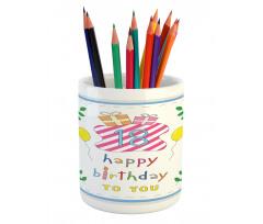 18 Birthday Pencil Pen Holder