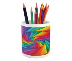 Abstract Art Vivid Swirl Pencil Pen Holder
