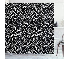 Abstract Art Rose Flowers Shower Curtain
