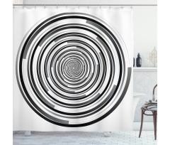 Abstract Art Spirals Shower Curtain