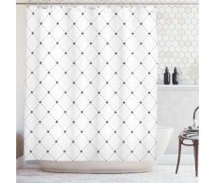 Shabby Plant Damask Shower Curtain
