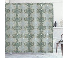 Abstract Art Floral Shower Curtain