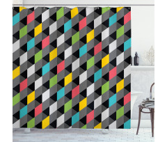 Abstract Art Style Shower Curtain
