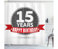 15 Emblem Shower Curtain
