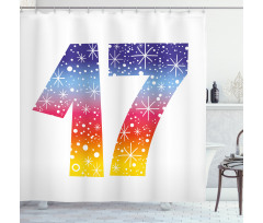 17 Party Shower Curtain