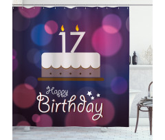 17 Party Cake Shower Curtain
