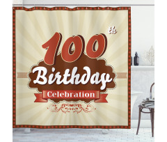 100 Old Party Invite Shower Curtain