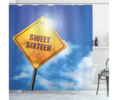 16 Road Shower Curtain