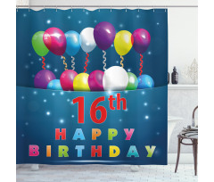 16 Party Shower Curtain
