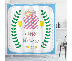 13th Birthday Gifts Shower Curtain