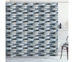 Abstract Art Silhouettes Shower Curtain