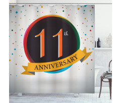 11 Year Retro Style Shower Curtain