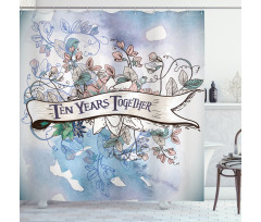 10 Years Floral Art Shower Curtain