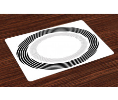 Abstract Art Theme White Place Mats